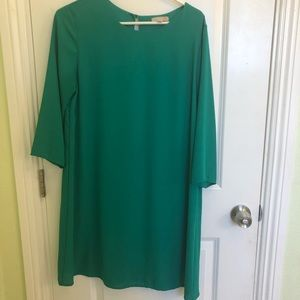 GIANNI BINI GREEN SHIFT DRESS LARGE